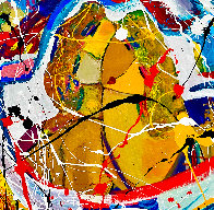 Love is in the Air 2020 48x48  Original Painting by Giora Angres - 2