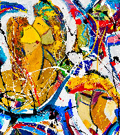 Love is in the Air 2020 48x48  Original Painting by Giora Angres - 3