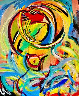 Whirlwind 2018 48x36 Huge Original Painting - Giora Angres