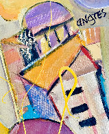 When in Rome 2004 48x36 Huge Original Painting by Giora Angres - 3