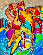 Santa Monica Pier 2019 60x48 Super Huge Original Painting by Giora Angres - 0