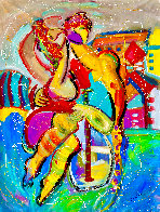 Santa Monica Pier 2019 60x48 Super Huge Original Painting by Giora Angres - 1