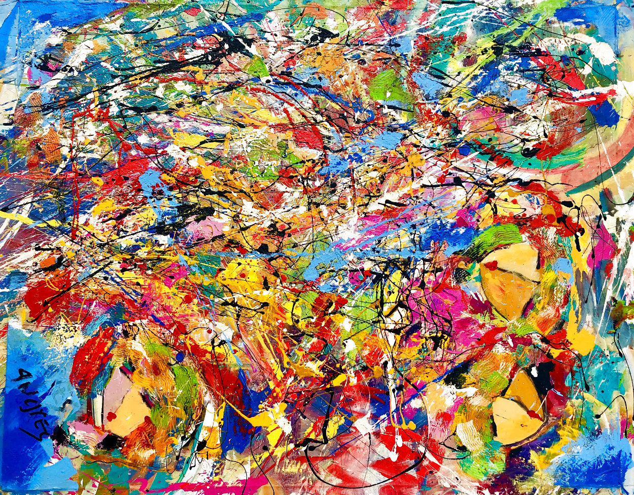 Perceptions 2014 30x40 Huge Original Painting by Giora Angres