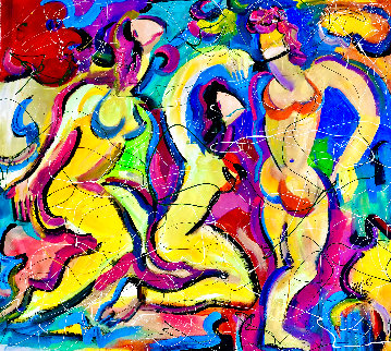 Incognito 2021 48x52 Huge Original Painting - Giora Angres
