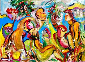 Chasing Heaven 2019 48x54 Huge Original Painting - Giora Angres