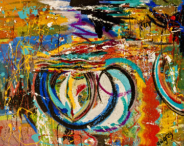 Hurricane 2016 36x48 Huge Original Painting - Giora Angres