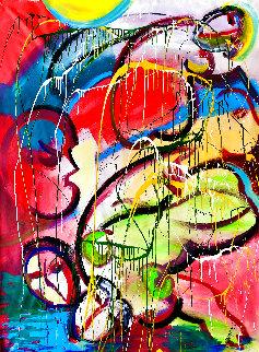 Earth Angel 2020 54x48 Huge Original Painting - Giora Angres