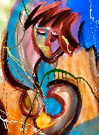 Companions Feeling Free 2021 48x60 Super Huge Original Painting by Giora Angres - 2