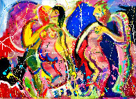 Love Garden 2020 48x60 Super Huge Original Painting by Giora Angres - 1