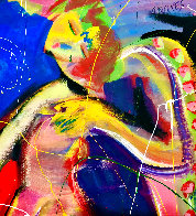 Love Garden 2020 48x60 Super Huge Original Painting by Giora Angres - 3