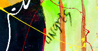 Musical Duet Original 2015 48x36 Huge Original Painting by Giora Angres - 3