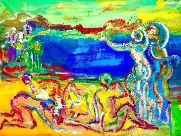 Point Loma, San Diego Original 2019 48x60 Huge Original Painting - Giora Angres