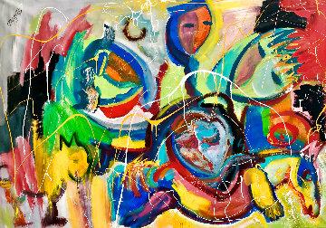 Pegasus 2019 40x52 Huge Original Painting - Giora Angres