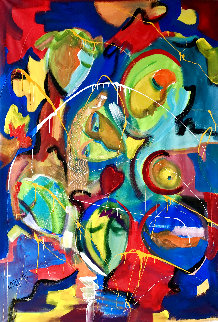 Remember 2020 60x46 Super Huge Original Painting - Giora Angres