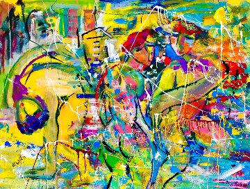 Tropical Glow 2017 48x60 Huge Original Painting - Giora Angres