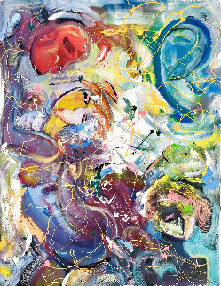 Transcendant 2019 60x48 Huge Original Painting - Giora Angres