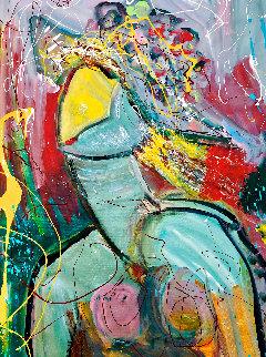 Magic Moments 2012 24x24 Original Painting - Giora Angres