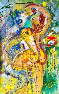 Moondance 2017 60x40 Huge Original Painting - Giora Angres