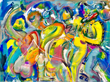 Body Heat 2021 48x60 Huge Original Painting - Giora Angres