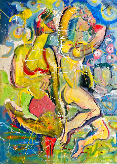 Until Forever 2017 56x46 Huge Original Painting - Giora Angres