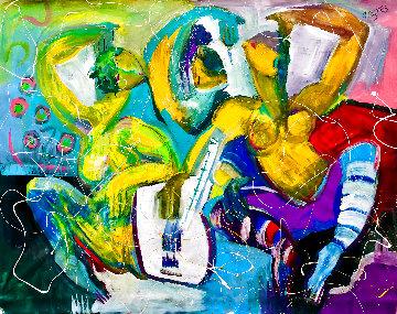 Deja Vu 2019 48x60 Huge Original Painting - Giora Angres