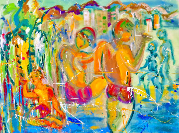 Some Day 2021 48x58 Huge Original Painting - Giora Angres