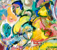 East of Eden 2016 48x60 Huge Original Painting by Giora Angres - 2