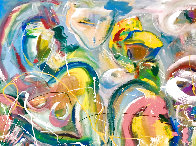 East of Eden 2016 48x60 Huge Original Painting by Giora Angres - 3