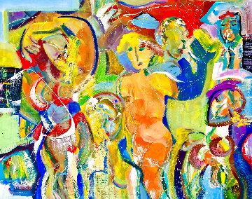 La Negrita 2021 48x60 Huge Original Painting - Giora Angres