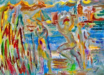 It Never Rains in California 2020 48x60 Huge Original Painting - Giora Angres