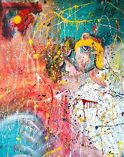 Asian Dream 2002 60x48 Huge Original Painting - Giora Angres