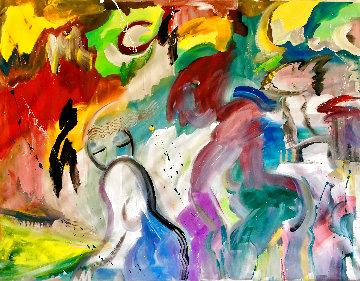 Flirtatious 2002 48x60 Original Painting - Giora Angres