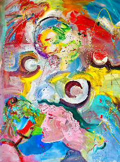 Adonis  2002 60x48 Huge  Original Painting - Giora Angres