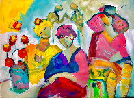Be Aware 2021 46x56 Huge <br />(Breast Cancer) Pink on Pink  Original Painting by Giora Angres - 0