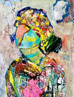 Satisfied 2016 46x31 Original Painting - Giora Angres