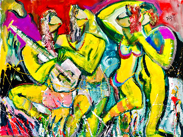 Young And Restless 2016 48x60 Huge  Original Painting - Giora Angres
