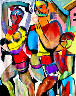 Home is Where the Heart Is 2002 60x48 Original Painting - Giora Angres