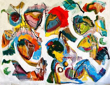 Eternal Dance 2015 48x58 Original Painting - Giora Angres