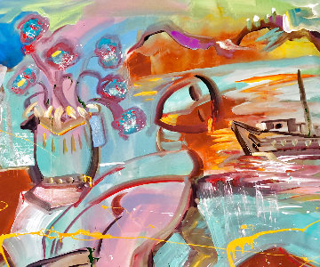 Perfection 2015 34x44 Original Painting - Giora Angres