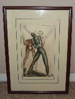 Figuras De Ballet 1970 Limited Edition Print by Raul Anguiano - 1