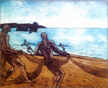 Los Pescadores 2000 Limited Edition Print - Raul Anguiano