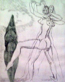 Danza de la Fertilidad 1969 Limited Edition Print - Raul Anguiano