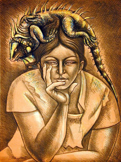 Melancholy (III of VII) 1982 Limited Edition Print by Raul Anguiano