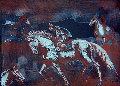 Onyx Horses Limited Edition Print - Raul Anguiano