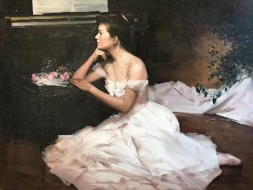 Ballerina Panse Sa Loge 1994 38x48 Original Painting -  An He