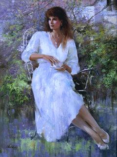 Tea Time 40x30 Original Painting -  An He