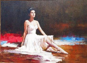 Prima Ballerina 1991 39x49 Huge Original Painting -  An He