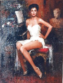 Diahann Carroll 1990  49x39 Super Huge Original Painting -  An He