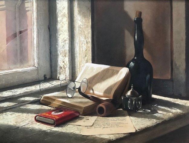 Evening Shadows 1990 29x35 Original Painting by Dmitri Annenkov