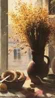 My Window With Bagel 1990 45x35 Super Huge Original Painting by Dmitri Annenkov - 1